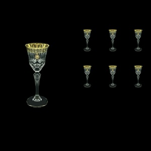 Adagio C5 AOGB Liqueur Glasses 80ml 6pcs in Lilit&Leo Golden Black Decor (41-480)