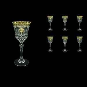 Adagio C3 AOGB Wine Glasses 220ml 6pcs in Lilit&Leo Golden Black Decor (41-482)