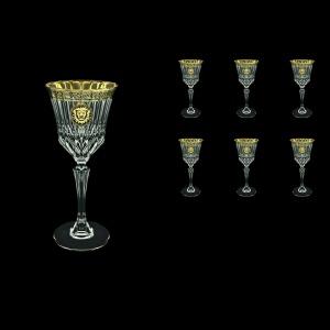 Adagio C3 AOGB Wine Glasses 220ml 6pcs in Lilit&Leo Golden Black Decor (41-482)