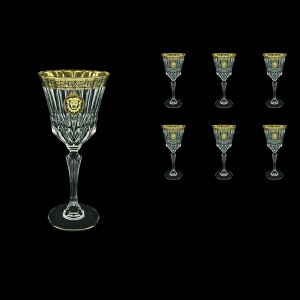 Adagio C2 AOGB Wine Glasses 280ml 6pcs in Lilit&Leo Golden Black Decor (41-483)