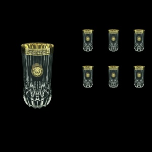Adagio B0 AOGB Water Glasses 400ml 6pcs in Lilit&Leo Golden Black Decor (41-484)