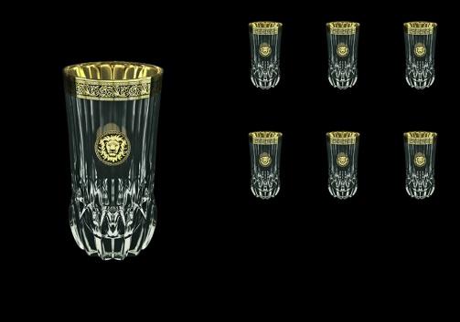 Adagio B0 AOGB Water Glasses 400ml 6pcs in Lilit&Leo Golden Black Decor (41-484)