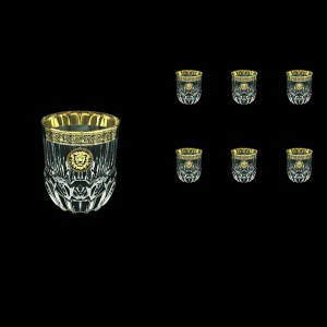 Adagio B2 AOGB Whisky Glasses 350ml 6pcs in Lilit&Leo Golden Black Decor (41-485)
