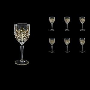 Oasis C4 OOG KCR Wine Glasses 134ml 6pcs in Full Star Gold+KCR (1315/KCR)