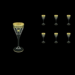 Fusion C5 FOGB Liqueur Glasses 70ml 6pcs in Lilit&Leo Golden Black Decor (41-430)