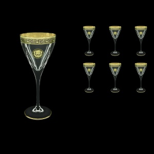 Fusion C2 FOGB Wine Glasses 250ml 6pcs in Lilit&Leo Golden Black Decor (41-432)
