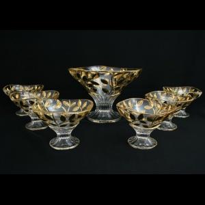 Laurus Set MV+MM LLG Bowls d23cm+6xd13,5cm 1+6pcs in Gold (1327/1328)
