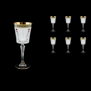 Timeless C3 TAGB SKLI Wine Glasses 227ml 6pcs Antique  Golden Black+SKLI (57-129/bKLI)