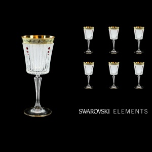 Timeless C2 TAGB SKLI Wine Glasses 298ml 6pcs Antique  Golden Black+SKLI (57-130/bKLI)