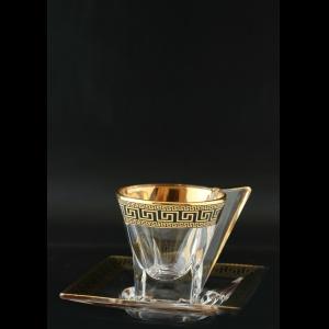 Fusion ES FAGB b Cup Espresso 76ml 1pc in Antique Golden Black Decor (57-335/b)