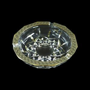 Opera PO OAGB b Ashtray d17,5cm 1pc in Antique Golden Black Decor (57-406/b)