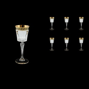 Timeless C5 TAGB SKTO Liqueur Glasses 110ml 6pcs Antique Golden Black+SKTO (57-112/bKTO)
