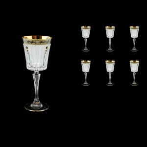 Timeless C3 TAGB SKTO Wine Glasses 227ml 6pcs Antique  Golden Black+SKTO (57-129/bKTO)