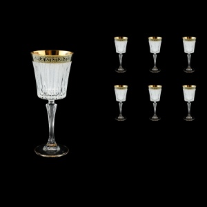Timeless C3 TAGB S Wine Glasses 227ml 6pcs Antique  Golden Black+S (57-129/b)