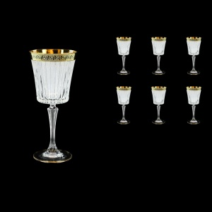 Timeless C2 TAGB S Wine Glasses 298ml 6pcs Antique  Golden Black+S (57-130/b)
