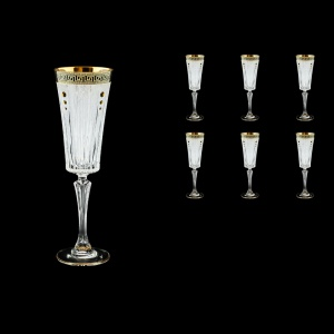 Timeless CFL TAGB SKTO Champagne Fluetes 210ml 6pcs Antique Golden+SKTO (57-131/bKTO)