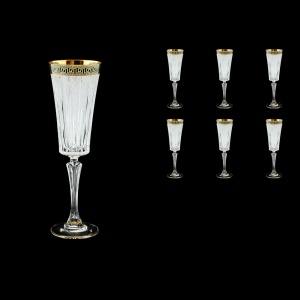 Timeless CFL TAGB S Champagne Fluetes 210ml 6pcs Antique Golden+S (57-131/b)