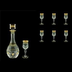 Opera Set RD+C5 OAGB Liqueur Set 1x500ml+6x60ml 1+6pcs in Antique Golden Black (57-224/b)
