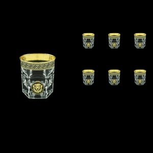Provenza B3 PLGB Whisky Glasses 185ml 6pcs in Antique&Leo Golden Black Decor (42-159)