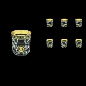 Provenza B3 PLGB Whisky Glasses 185ml 6pcs in Antique&Leo Golden Black Decor (42-159)