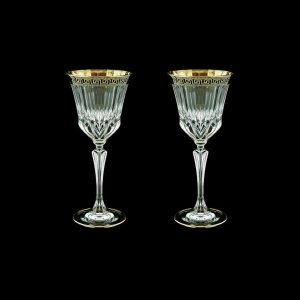 Adagio C3 AAGB b Wine Glasses 220ml 2pcs in Antique Golden Black Decor (57-482/2/b)
