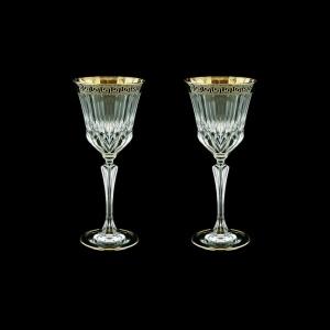 Adagio C3 AAGB b Wine Glasses 220ml 2pcs in Antique Golden Black Decor (57-482/2/b)