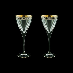 Fusion C2 FAGB b Wine Glasses 250ml 2pcs in Antique Golden Black Decor (57-432/2/b)