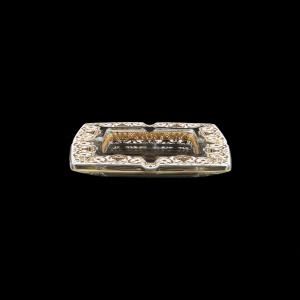 Torcello PO TELW Ashtray 15x15cm 1pc in Flora´s Empire Golden White Light Decor (21-706/L)