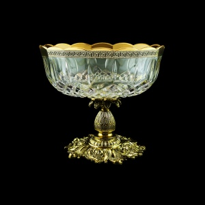 Opera MVZ OAGB b Large Bowl d23cm 1pc in Antique Golden Black Decor (57-410/JJ02/b)