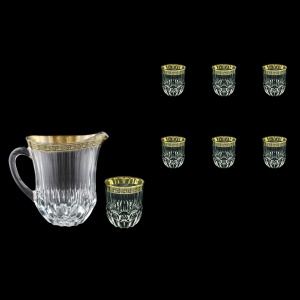 Adagio Set J+B2 AMGB 1230ml+6x350ml 1+6pcs in Lilit Golden Black Decor (31-488/485)