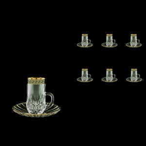 Opera ES OAGB Espresso 50ml 6pcs in Antique Golden Black Decor (57-502/6/b)