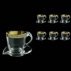 Mamanonmama CA MMGB Cappuccino 260ml 6pcs in Lilit Golden Black Decor (31-333/6)