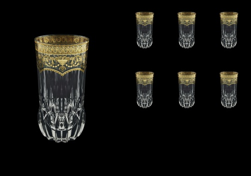 Adagio B0 AELK Water Glasses 400ml 6pcs in Flora´s Empire Golden Crystal Light (20-596/L)