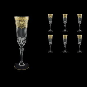 Adagio CFL AELK Champagne Flutes 180ml 6pcs in Flora´s Empire G. Crystal Light (20-594/L)