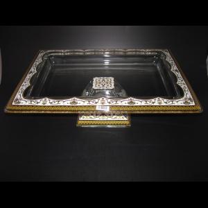 Torcello QTD TELW Tray w/F 40x30cm 1pc in Flora´s Empire Golden White Light Decor (21-70L)