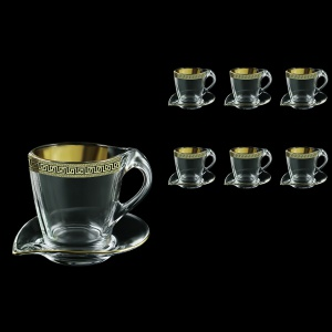 Mamanonmama CA MAGB b Cappuccino 260ml 6pcs in Antique Golden Black (57-333/6/b)