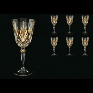 Melodia C2 MPG Wine Glasses 270ml 6pcs in Platinum&Gold (1203)