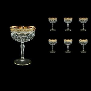 Opera CCH OEGW Champagne Bowl 240ml 6pcs in Flora´s Empire Golden White Decor (21-619)