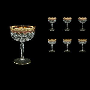Opera CCH OEGR Champagne Bowl 240ml 6pcs in Flora´s Empire Golden Red Decor (22-619)