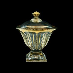 Panel DO PAGB b B Dose 26,5cm 1pc in Antique Golden Black Decor (57-337/b)