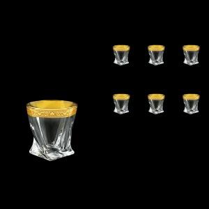 Bohemia Quadro B2 QNGC Whisky Glasses 340ml 6pcs in Romance Golden Classic Decor (33-465)