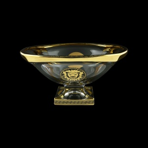 Bohemia Magma MV MLGB CH Bowl d34cm 1pc in Antique&Leo Golden Black Decor (42-207)