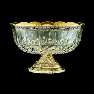 Opera MVZ OAGB b Large Bowl d23cm 1pc in Antique Golden Black Decor (57-410/O.17/b)