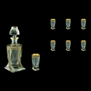 Bohemia Quadro Set WD+B5 QAGB b 1+6 pcs, 500ml+6x50ml, in Ant Gold Bl. D. (57-490/b)