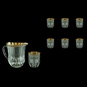 Adagio Set J+B2 AAGB 1230ml+6x350ml 1+6pcs in Antique Golden Black Decor (57-488/485/b)
