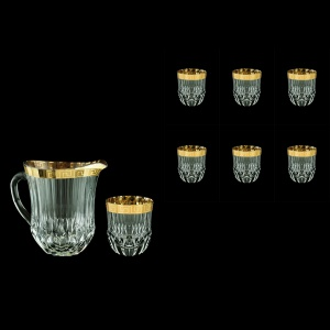 Adagio Set J+B2 AAGC 1230ml+6x350ml 1+6pcs in Antique Golden Classic Decor (488/485/b)