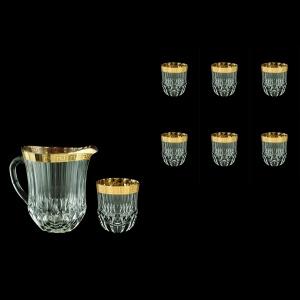 Adagio Set J+B2 AAGC 1230ml+6x350ml 1+6pcs in Antique Golden Classic Decor (488/485/b)