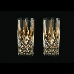 Melodia B0 MPG Water Glasses 360ml 2pcs in Platinum&Gold (1205/2)