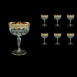 Opera CCH OEGI Champagne Bowl 240ml 6pcs in Flora´s Empire Golden Ivory Decor (25-619)