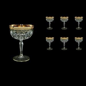 Opera CCH OEGB Champagne Bowl 240ml 6pcs in Flora´s Empire Golden Black Decor (26-619)